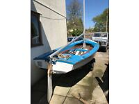 Wayfarer Sailing Dinghy on Snipe Road Trailer-Safe,Stable family boat with outboard mounting bracket