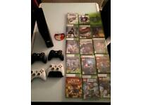 Xbox 360, 16 games & 4 controllers