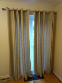 Brown long curtains