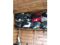 Selection of scooter/motorbike/scrambler helmets