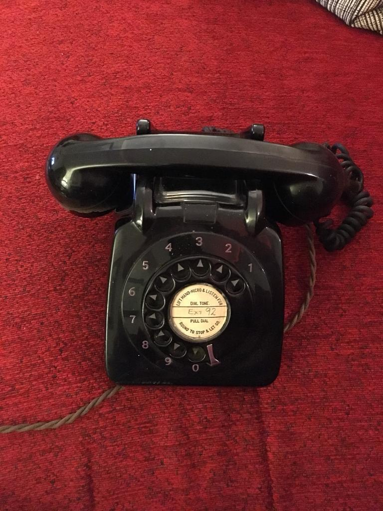 Vintage Black Telephone (ATS)