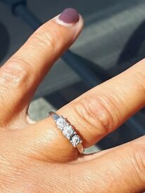 Triology diamond engagement ring
