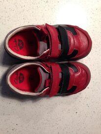 Immaculate Red Clarks boy's Jetsky Buzz shoes