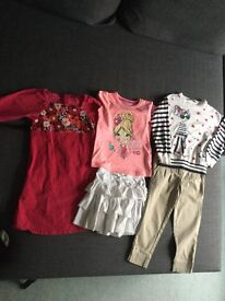 Girls clothes Bundle age 5-6 Years dress, skirt, T-shirt, skinny trousers, jumper