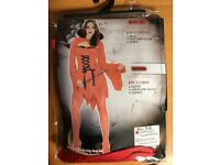 RED DEVIL LADY FANCY DRESS OUTFIT SIZE 10/12 GREAT FOR A HALLOWEEN PARTY