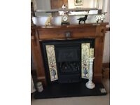 Cast iron gas fire and surround in VGC , does not include hearth.