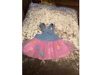 Baby Girl denim Mayoral tutu dress