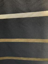 Black grey/gold material 2 pieces