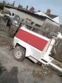 For sale this site genarator and light tower