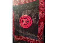 Chanel Blanket for Double Bed Black / Red