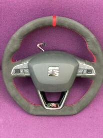 Flat bottom Steering wheel
