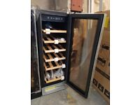 Wine Cooler 18 bottle LED 30cm Built-In Under Counter Stainless Steel - UBWC300B