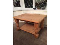 Medium Size Pine Coffee Table