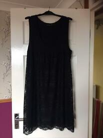 Women's black lace dress Size 16/18