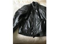 Leather motorcycle jacket (size 3XL)