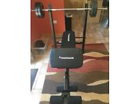Maximuscle adjustable bench and weights package (perfect condition)