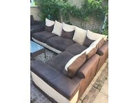 SOFA ,five seater corner sofa upholstery,full set, Free local delivery CF23