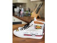 Men's Gucci high top sneakers uk 8,5~9uk 42,5~43 New unworn