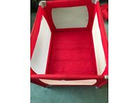 Red Kite Sleeptight Travel Cot ( Red) .. Portable Bed for Baby + Travel Bag