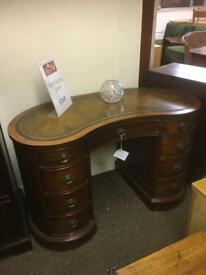 Antique style leather effect top desk * free furniture delivery *
