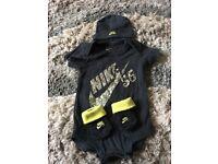 Nike baby boys romper set