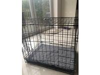 Medium black dog cage