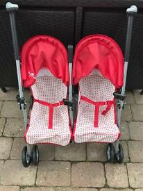 Dolls Double Buggy / Pushchair