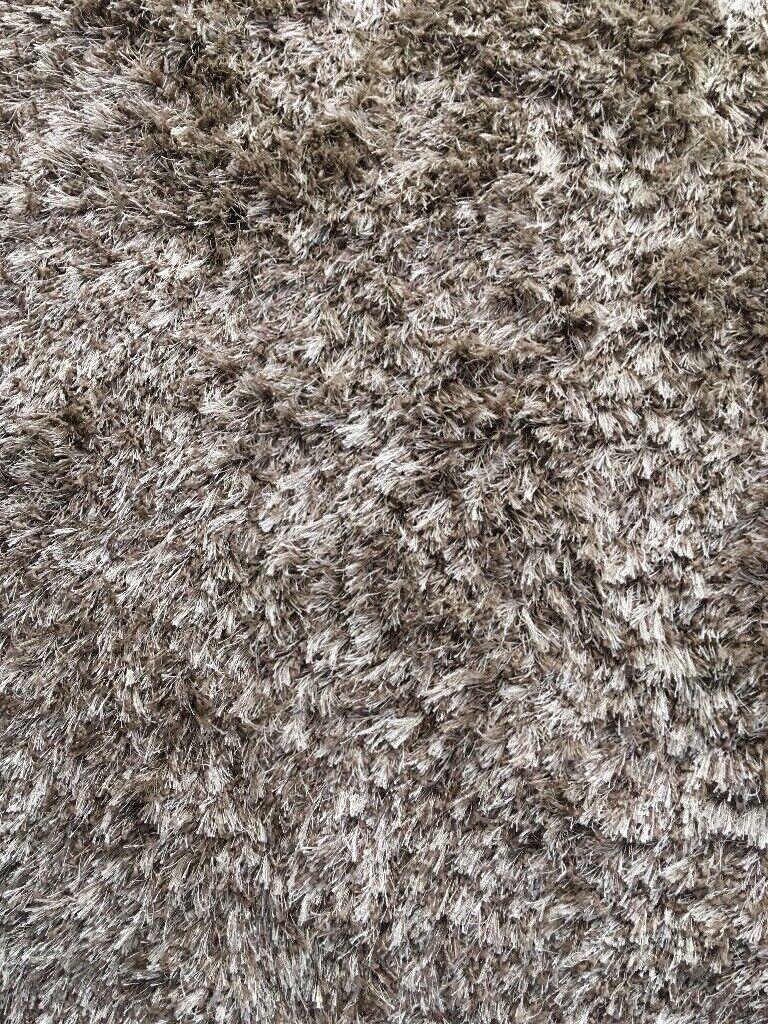 Carpetright Shaggy Taupe Rug