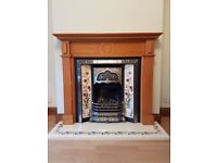 Beautiful Working gas Fire, Surround and Hearth £350 o.n.o