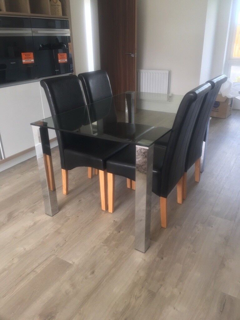 4 Faux Leather Dining Room Chairs In Ingleby Barwick County