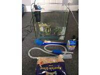 55 litre Cube fish tank, pump and Led lights