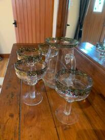 Margarita glasses & pitcher