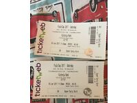 FIELD DAY TICKETS x 2 SATURDAY 3rd JUNE