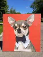 LARGE FUN CANVASES OF CHIHUAHUAS