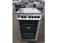 ZANUSSI ZCV563DX 50cm DOUBLE OVEN ELECTRIC COOKER-STAINLESS