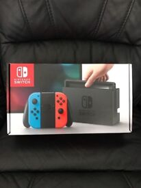 **SEALED** NINTENDO SWITCH BRAND NEW AND INCLUDES 1 YEAR WARRANTY. GENUINE UK STOCK