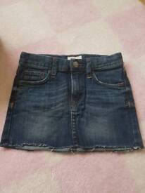 H&M denim shorts skirt size 4-6