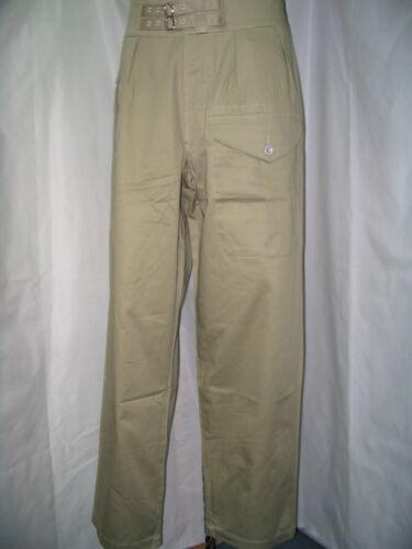 WW2 British Khaki Drill KD battledress trousers   size XL