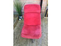 Chair - Ikea red corduroy swivel chair