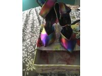 Irregular choice Step on me rainbow leather shoes size 38/5 hardly worn in original IC box