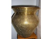 Beautiful Large Antique Syrian Brass Pot