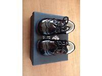 Boy or girls black paisley of London shoes size 3 infant