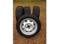 175/65/R14 Continental VancoWinter2 6mm set of 4 winter tyres on wheels, fits Mazda MX5
