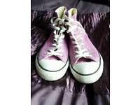 Lilac Converse High Tops Size 8