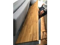 Solid Prime Oak Wood Worktop- 40mm staves and 2m long.