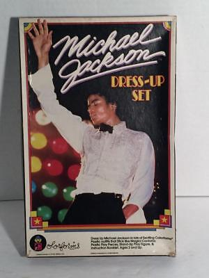 Michael Jackson Dress up set colorforms complete 1984 complete - Michael Jackson Dress Up