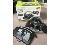 X box 360 Racing wheel/pedal