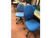 Light Blue Adjustable Computer Chair