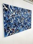 Schilderij  - Abstract - Deep blue- Rick Triest - 80x120 cm