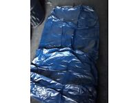 Blue single size blow-up mattress in good clean condition